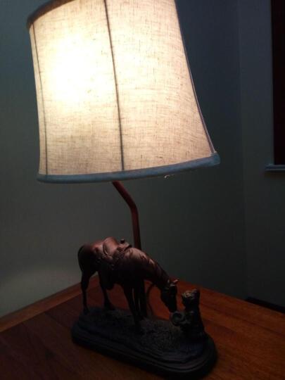络曼(LUOMAN) 美式复古创意个性小马台灯 欧式卧室台灯床头灯客厅书房装饰 晒单图