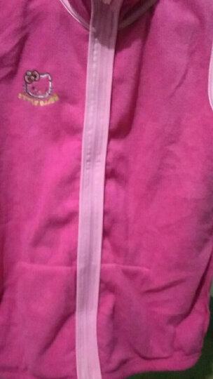 凯蒂猫Hellokitty女童马甲背心摇粒绒宝宝开衫拉链儿童坎肩马夹KT7004玫红色160cm 晒单图