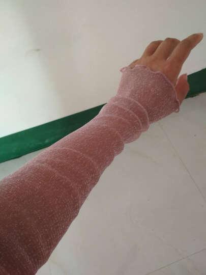 汤米伍德 新款防晒袖套夏季开车冰袖子薄网纱袜遮阳脚套两用冰丝手套蕾丝金银丝 皮紫 晒单图