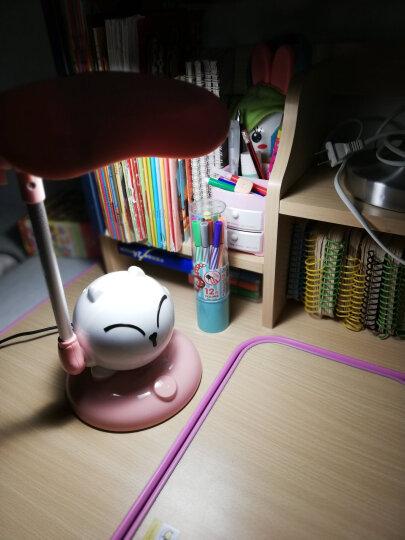 冠雅 LED护眼灯 学生学习台灯儿童卡通时尚触摸可调光卧室床头阅读节能灯 LA-D168 粉色 晒单图