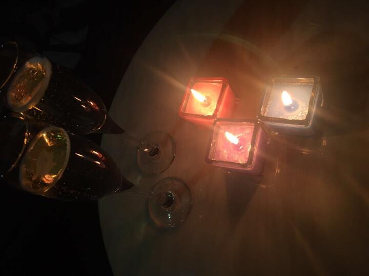 鑫礼坊 买2送1方型玻璃杯香薰蜡烛浪漫除烟除异味熏香助睡眠生日求婚欧式精油spa酒店 绿色(哈密瓜) 晒单图