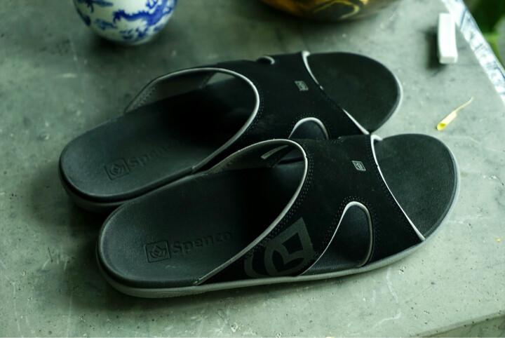 Spenco拖鞋新款凉拖鞋男皮拖鞋沙滩鞋 扁平足足弓支撑拖鞋 41.5 晒单图