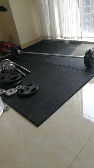 骐骏 健身房橡胶地垫缓冲地板减震垫哑铃垫子运动力量地胶室内塑胶地砖 升级款地垫(表面灰色EPDM颗粒+耐UV清洁涂层) 晒单图