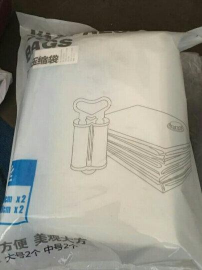 佳佰 压缩袋 密封真空防尘衣物被子收纳袋 9丝加厚4只装(2大2中)内含双管气泵 晒单图