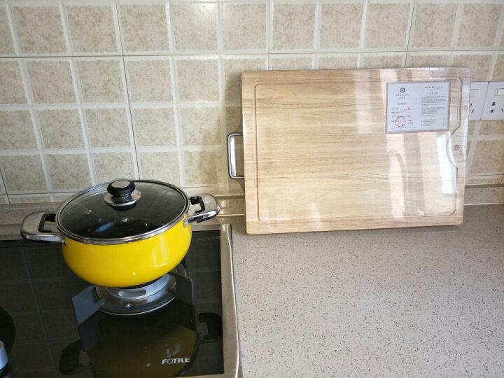 原森太 实木 菜板 木 砧板 切菜板 加厚粘板 刀板 面板 厨房家用 长方形案板大中小号 大号50X35X3橡胶木菜板3CM 晒单图