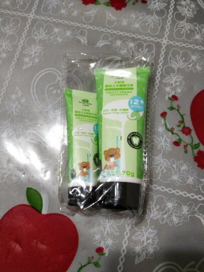 英国小树苗 儿童婴儿加钙牙膏G套装 蜜瓜味95g 无氟可吞咽 适合1-6岁 晒单图