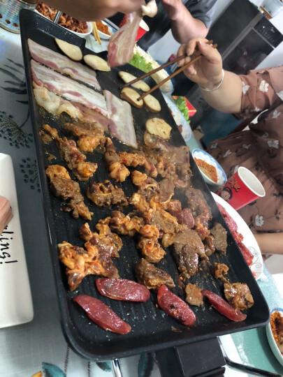 捷昇(JIESHENG)韩式家用电烧烤炉 电烤盘户外无烟不粘铁板烧烤肉机 大号(5-10人豪华配置) 晒单图