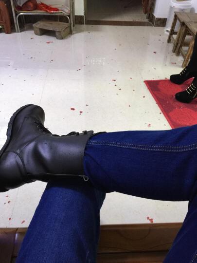 宝思特 新款女靴马丁靴韩版时尚短靴中筒情侣靴日常休闲工装靴厚底军靴骑士靴 黑色单里 43 晒单图