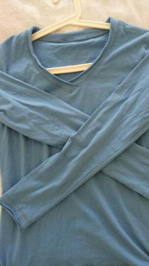 简杭短袖T恤女2018春夏季新款大码女装韩版时尚修身显瘦卷边棉质V领弹力长袖T恤女5042 白色短袖 XL 晒单图