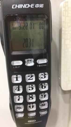 中诺(CHINO-E)C259 小挂机防雷防电磁家用电话机座机电话办公固定电话机来电显示有线坐机固话机 黑色 晒单图