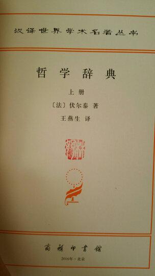 汉译世界学术名著丛书:哲学辞典(套装上下册) 晒单图
