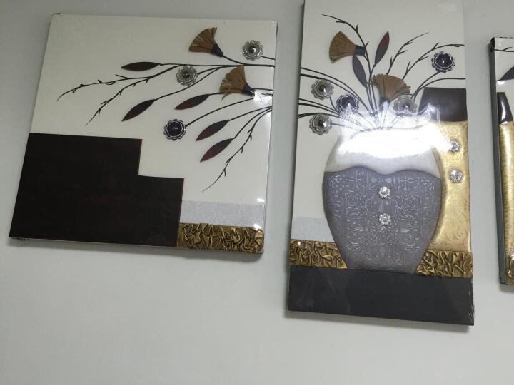 夏洛美家 大尺寸客厅装饰画五联沙发背景墙画现代简约家居装饰壁画挂画手工立体浮雕画 余音绕梁 P003 80*260适合3-4米左右沙发 晒单图