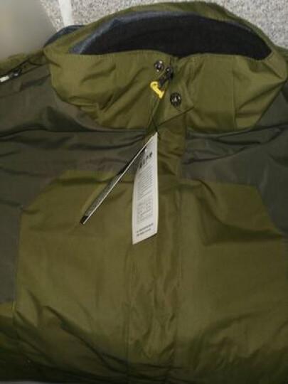 圣亚希(SHENGYAXI) 冲锋衣男女新款情侣可拆卸三合一登山服套装防风保暖大码两件套 1201B-男军绿+军绿裤 XL(男-65KG/女-55KG) 晒单图