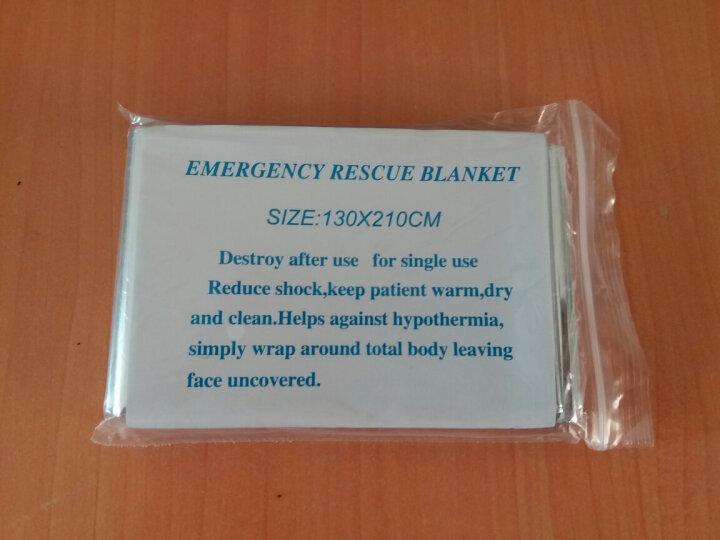 RIMIX  户外急救毯 应急毯救生毯 防晒保温毯求生便携毯 急救毯(金) 晒单图