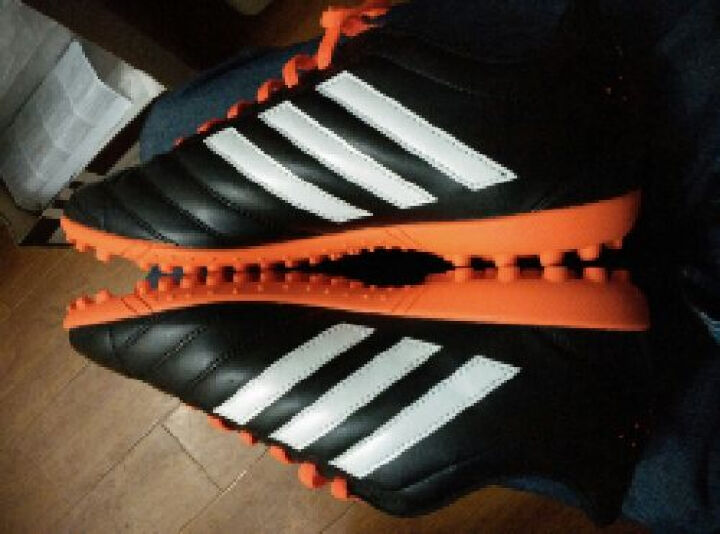 Adidas阿迪达斯足球鞋男碎钉TF运动正品防滑人造草地鞋 【买一送四】蓝黑|FY3542 42 2/3 晒单图