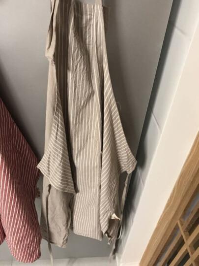 网易严选 日式纯棉色织条纹围裙 纯棉材质防油厨房罩衣工作服-1 枯野灰 80*80cm 晒单图