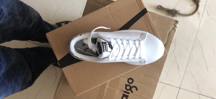 鸿星尔克erke女鞋 板鞋新款休闲运动鞋滑板鞋情侣小白鞋52116401106正白/正黑39码 晒单图