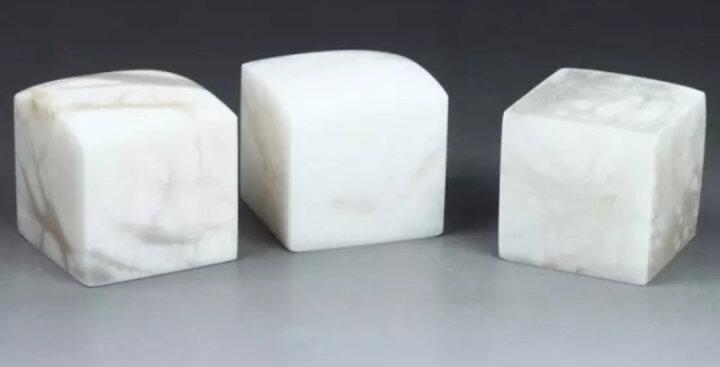 金石印坊 昆仑冻石平头方章  六种尺寸可供选择  单枚售  配锦盒 篆刻练习石 3*3*8CM 晒单图