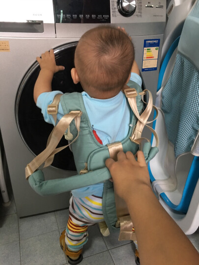 babycare 婴儿学走路舒适透气款两用学步带 3010赛琳绿 晒单图