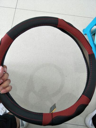 索瑞尔昂克赛拉方向盘套真皮马自达3星骋马自达6阿特兹CX-5睿翼CX4马2专用汽车把套M5M8塞拉 SR8189红黑色 马自达CX-5/CX-4/CX-7 晒单图