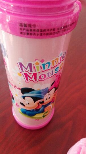 迪士尼(Disney)保温杯304不锈钢儿童水杯学生杯子吸管背带户外水壶 480ML HM1912-3 公主粉色 晒单图