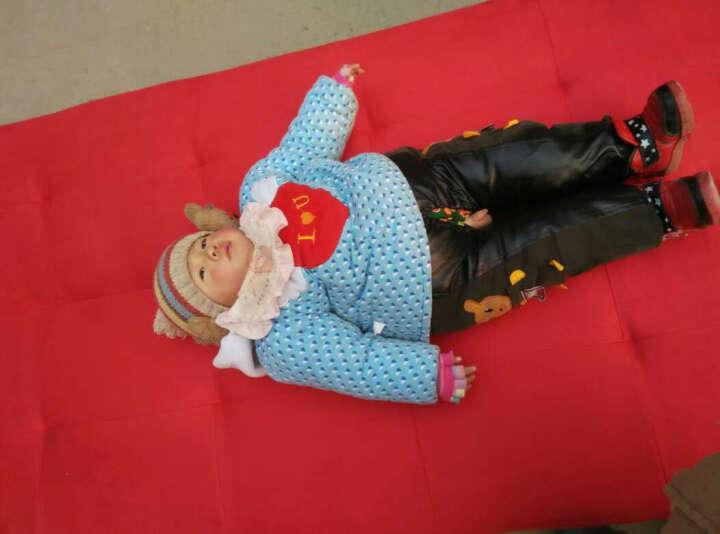 简适轩 小户型单人沙发 布艺沙发 双人沙发床折叠床 多功能折叠沙发 红色绒布 晒单图