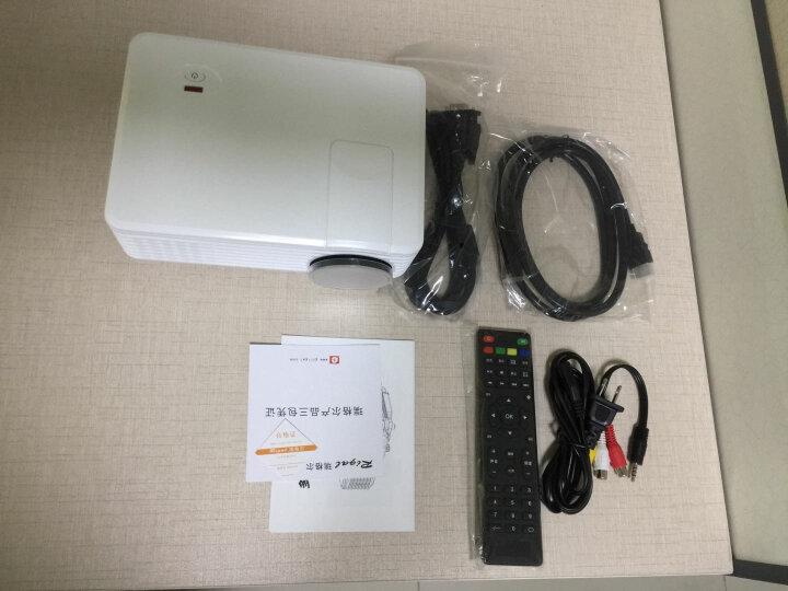Rigal 瑞格尔RD-805 LED家用投影仪投影机微型高清 可选智能手机同屏无线蓝牙 白色-内置安卓wifi 标配 晒单图