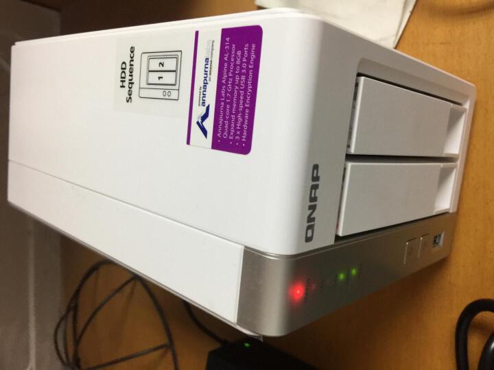威联通(QNAP) TS-231P2 2盘位网络存储器NAS 文件服务器 共享 备份 存储 TS-231P  1GB 6TB*2块企业盘 18TB 晒单图