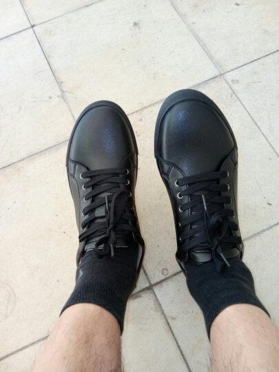 于心 板鞋 男鞋2017新款 皮鞋韩版小白鞋真皮运动休闲鞋 白色77002 39 晒单图