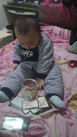 猫人婴儿保暖套装宝宝棉衣棉服棉裤两件套婴儿秋冬装加厚衣服2件套 微笑星星-大红 100CM 晒单图