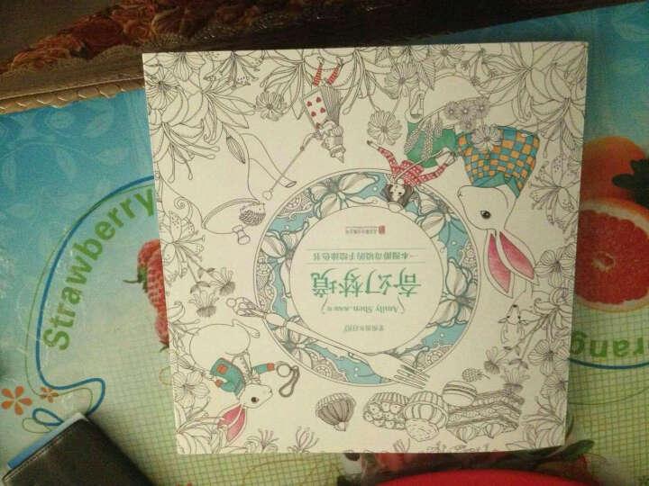 秘密森林 中文版6-12岁手绘秘密花园同类型 创意涂鸦填色书 填色薄减压涂色 书籍 晒单图