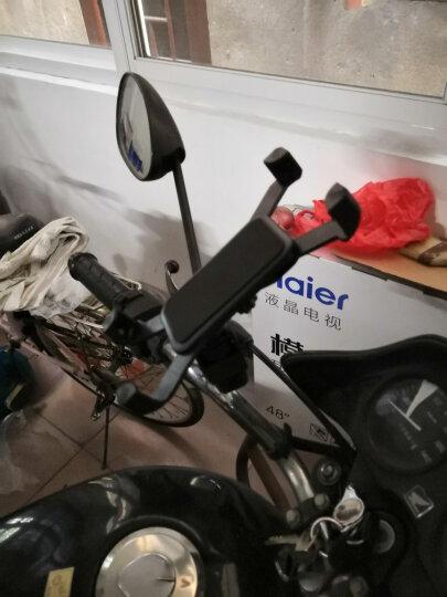 捷酷电动踏板车手机架摩托车电瓶车导航架后视镜款通用 反光镜车把专用款 鹰爪简约款把横款黑色 晒单图