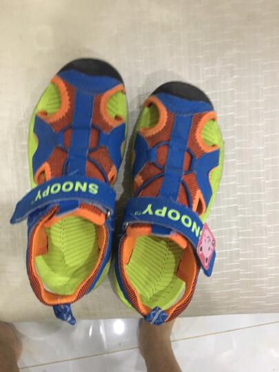 史努比儿童凉鞋潮流包头男童凉鞋休闲女童沙滩鞋S715326宝兰34码 晒单图