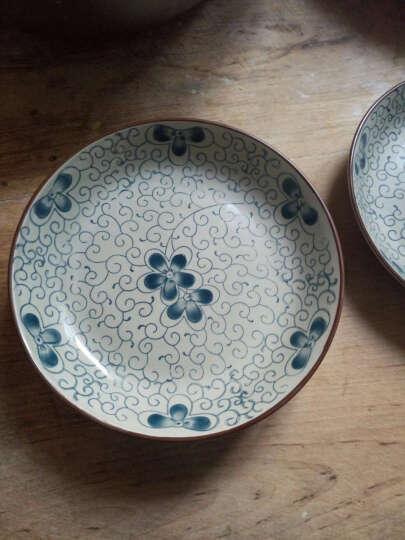 敏杨 套装盘子(4只装)陶瓷盘子菜盘家用水果盘子瓷器中式餐具 菜碟子7/8英寸盘子 8英寸品味骨瓷 晒单图