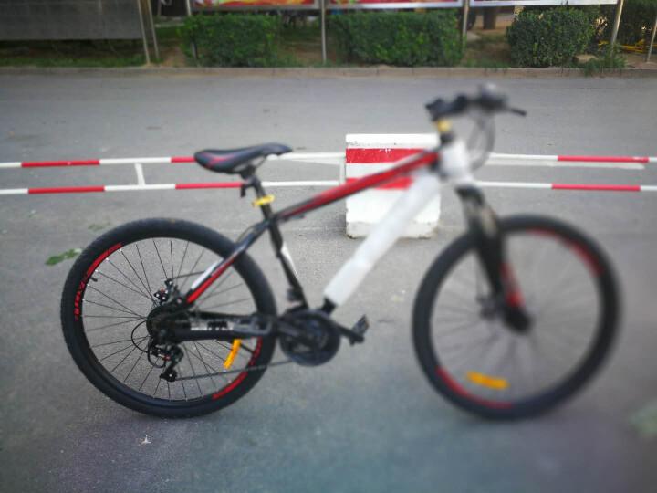 邦德富士达 山地车自行车26寸高碳钢车架24速减震男女士学生式越野单车 W100 黑红色 晒单图