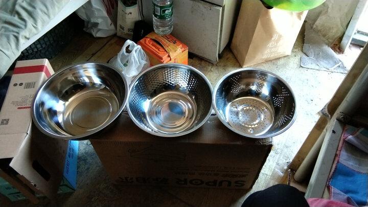美厨(maxcook)不锈钢盆 洗菜篮调料盆米筛味斗三件套 MCM-3 可叠放 和面淘米洗菜 晒单图