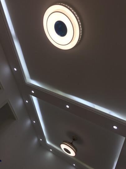 简旭 LED筒灯3Wled射灯三色变光筒灯孔灯天花灯开孔7-8公分【加厚全铝】 尊贵金-白光 晒单图