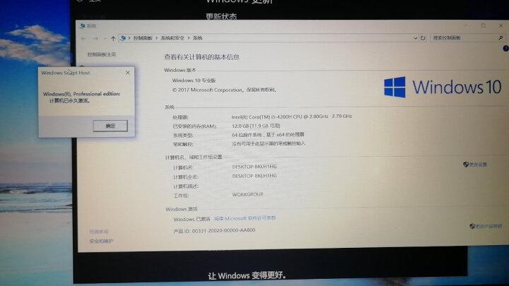 远程电脑系统windows10家庭版升级专业版秘钥win7旗舰版密钥win8.1企业版正版永久激活码 Win10专业版 晒单图
