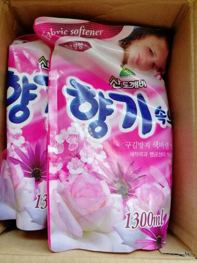 山精灵(Sandokkaebi)韩国原装进口袋装衣物柔软剂(花香型)衣服柔顺护理剂补充装1300ml 晒单图