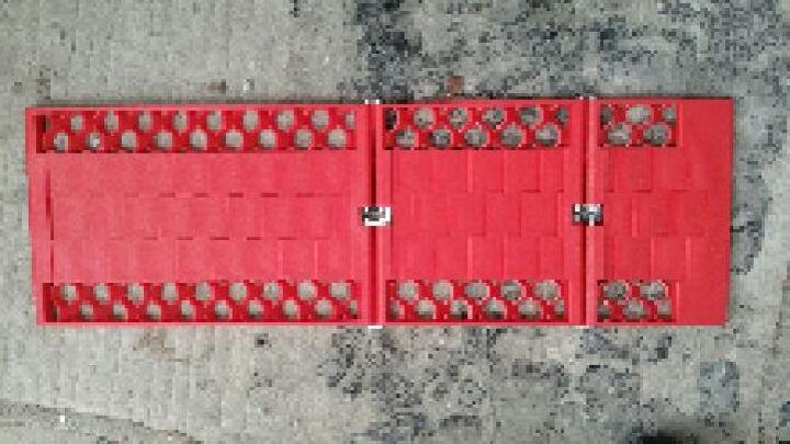 车太太 汽车雪地脱困板车用泥地沙地防陷防滑板车载三段式可折叠履带防滑链应急救援 汽车用品超市 55*18*1CM 晒单图