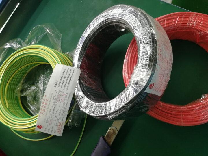 金龙羽 电线电缆ZR/ZC BVR1.5平方 国标铜芯线单芯多股软线 阻燃家装线100米 阻燃/绿色多股 (软线) 火线 晒单图