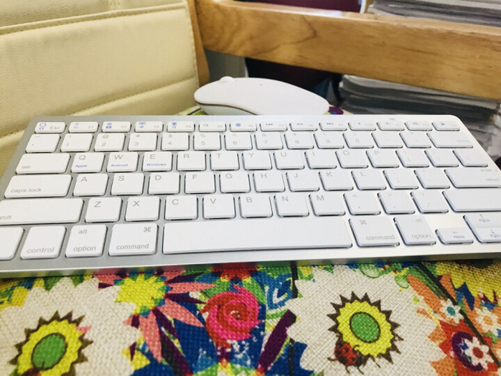 LS 键鼠套装 无线键盘鼠标套装 蓝牙键盘 Mac苹果笔记本电脑一体机台式机 办公静音便携游戏小迷你 无线蓝牙键盘+鼠标套装-白色 晒单图
