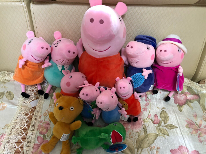 小猪佩奇啥是佩奇PeppaPig粉红猪小妹毛绒玩具3-6岁礼品乔治生日礼物背包小熊恐龙 19cm佩奇的小熊 晒单图
