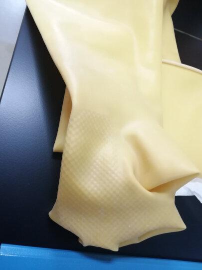 工业耐酸碱橡胶皮手套防酸碱乳胶劳保防护手套 加厚耐用耐腐蚀强酸劳保工业手套 60CM 60CM特厚款一付 晒单图
