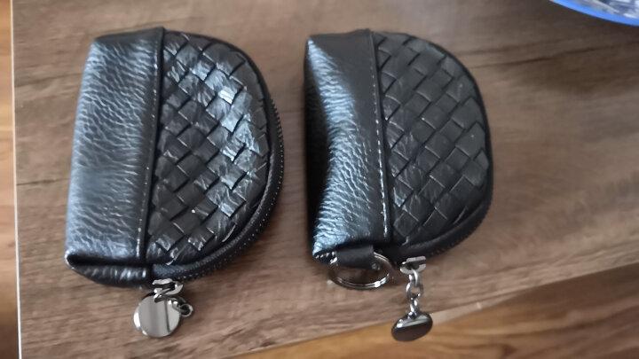 艾上包代 小清新可爱零钱包编织款迷你卡包钥匙包 随身携带小钱包女硬币包 紫色 晒单图