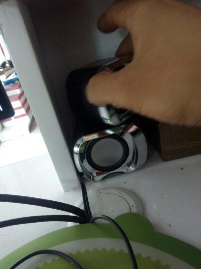 笔记本有线小音响一对家用台式机电脑电视usb桌面迷你有源小型音箱手机2.0外接重低音炮喇叭游戏扬声器 DX16黑蓝色迷你音响 晒单图