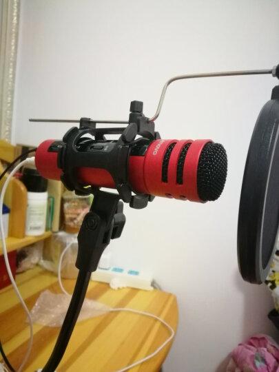 联想(Lenovo) UM10C手机麦克风 全民k歌主播专用话筒 苹果安卓电容麦电脑唱歌KTV效果 青春版天后红套装 晒单图