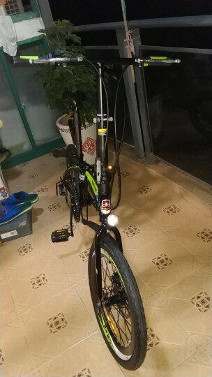 永久自行车  20寸7级禧玛诺变速折叠车 双碟刹/40高刀圈/台湾建大车胎 男女式单车 YE2017 黑绿色 晒单图