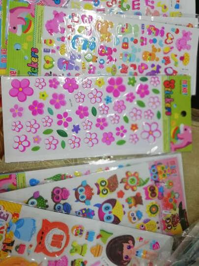 那些花儿儿童卡通泡泡贴纸 立体奖励贴画粘贴泡泡贴粘纸数字字母形状动物换装贴纸 30张特价男女混合图案 晒单图
