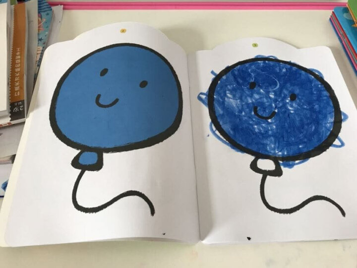 企鹅萌萌 婴幼儿童互动认知涂色画册 AR立体涂色本(套装共4册) 晒单图